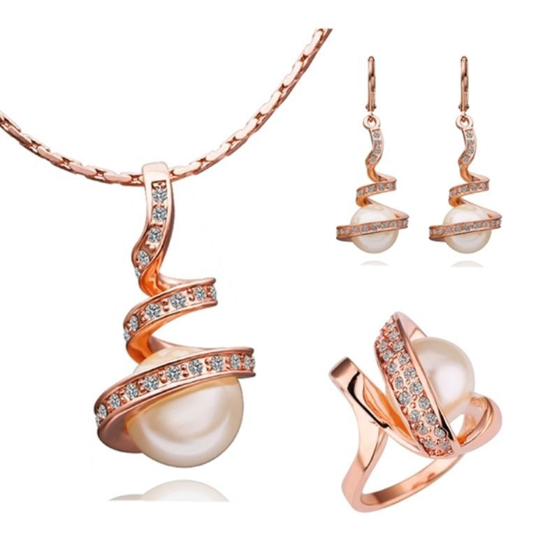 Long Crystal Necklace Necklace /& Earring Set Long Sparkle Necklace Crystal Pearl Pendant Necklace Long Necklace Pendant