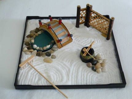 ENJOY mini Zen Garden in your own home, Zen Japanese ... on mini rock garden, diy zen garden sand, mini zen sand table, japanese rock garden sand,