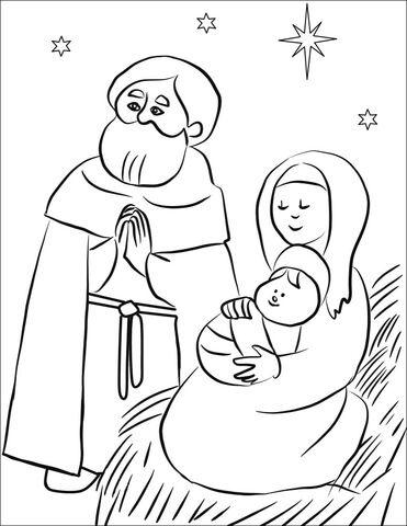 Sagrada Familia Dibujo para colorear | CRISTMAS | Pinterest ...