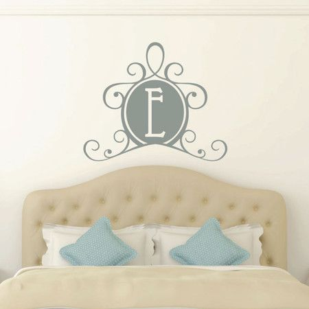 Everett Monogram Wall Decal In Grey At Joss And Main