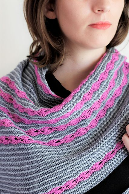 Fragrant Shawl pattern by Jessica Gore