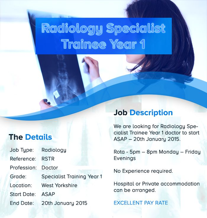 We Are Looking For Radiology Specialist Trainee Year  Doctor To