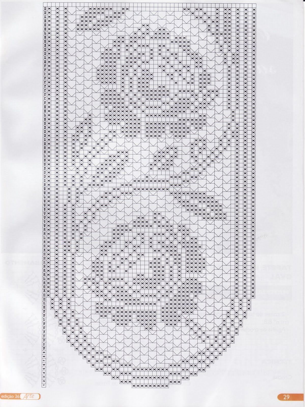 Filet Häkeln Tischläufer Filet crochet.. Table runner chart ...