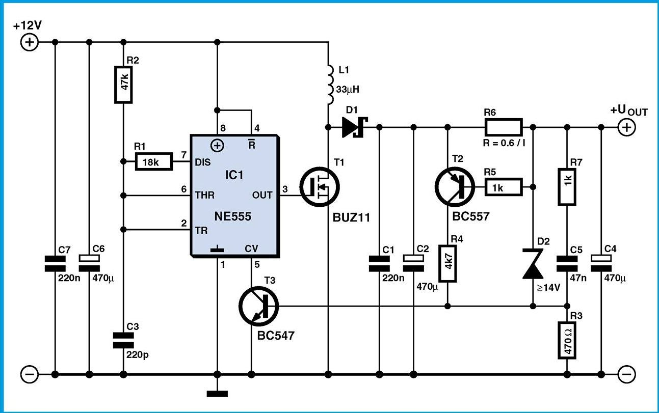 How To Make 12 Volts More Voltage Up 40 Simple And With Circuit Diagram Draw A Common Parts Instead Of Buz11 You Can Put The Popular Irfz44