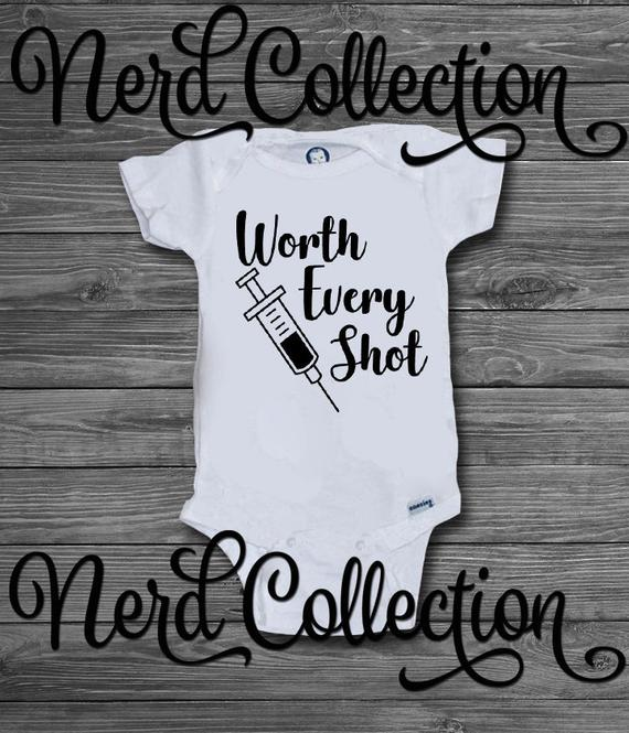 Miracle created by Science Baby Vest Babygrow Bodysuit Baby Shower IVF Baby