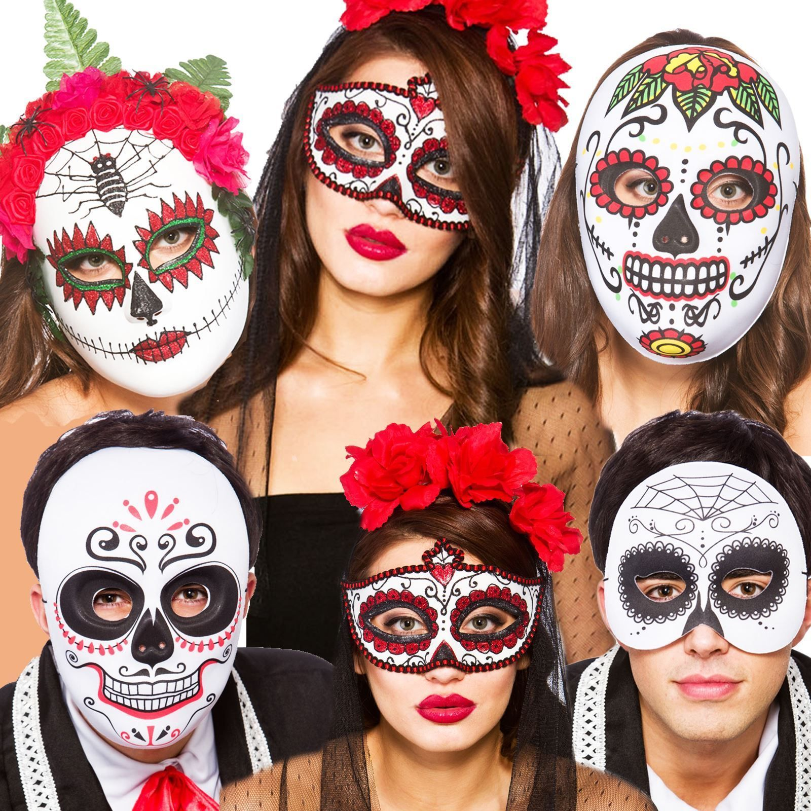 Halloween Mexican Zombie Sugar Skull Day Of The Dead Fancy