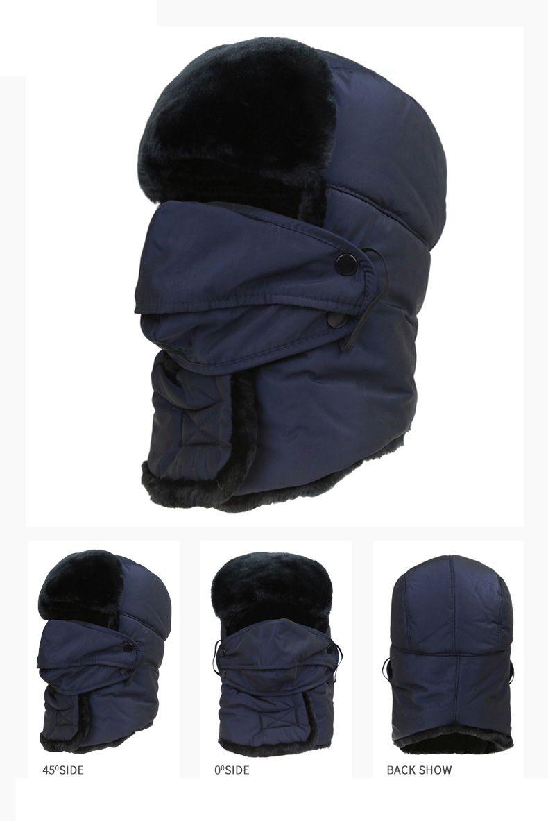 5dd6f45ff4c  AETRENDS  2017 Men s or Women s Fur Bomber Hats Winter Russian Hat Outdoor  Warm Thicker