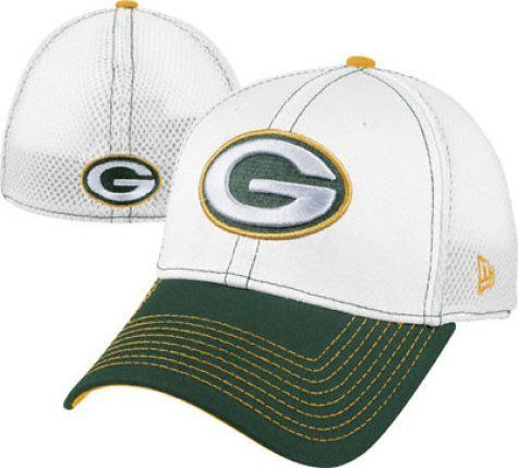 18d013950aed04 NFL Green Bay Packers Blitz Neo 3930 Cap, White/Green, Small/Medium ...
