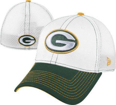 size 40 479b4 12431 NFL Green Bay Packers Blitz Neo 3930 Cap, White Green, Small Medium