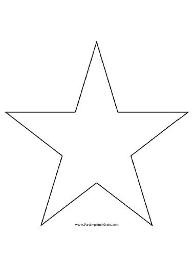 Molde de Estrella para Imprimir muchos moldes gratis para quienes ...