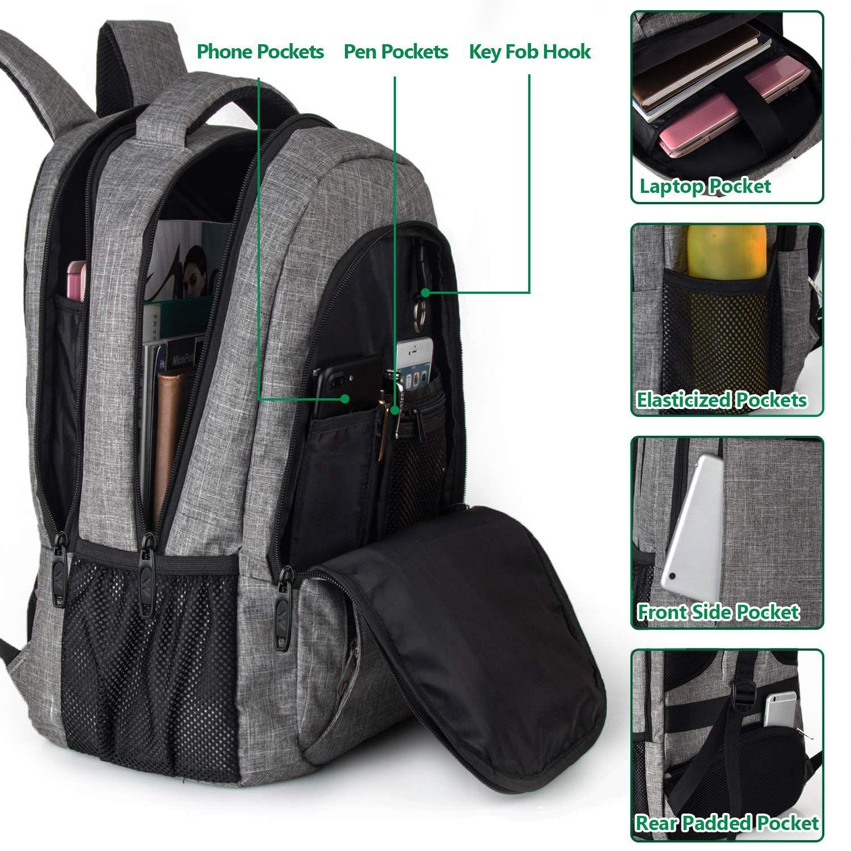Top 5 Black Genuine leather backpack | Laptop backpack