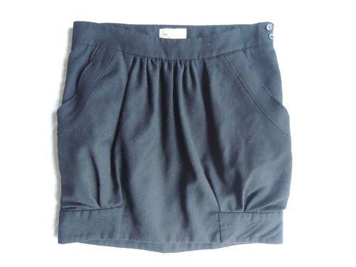 Vanessa Bruno Wool Mini Skirt  On www.FullCircleFashion.com