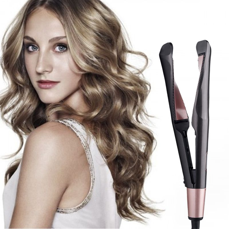 Holiday Promotion 60 Off 2 In 1 Hair Curler And Straightener Emegedk Flat Iron Hair Styles Hair Straightener And Curler Hair Treatment Damaged