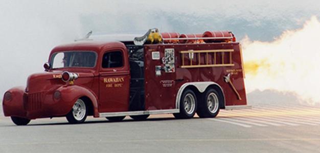 O mais rápido caminhão de bombeiros a jato