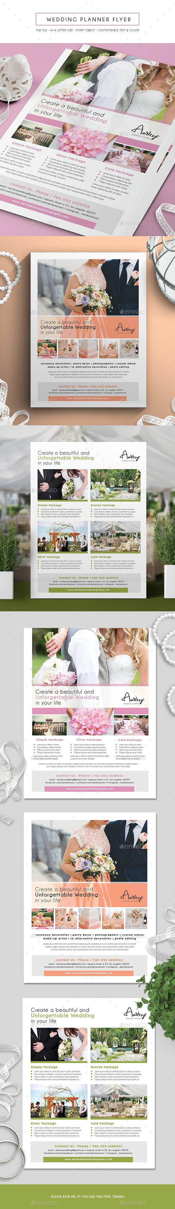 Wedding Planner Flyer - Corporate Flyers #design #flyer #template Download:  Http://graphicriver.net/item/wedding-Planner-Flyer /15882193?ref=Webdesignspider