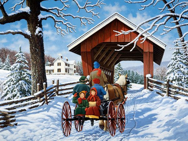 Bridge Cards Christmas Country