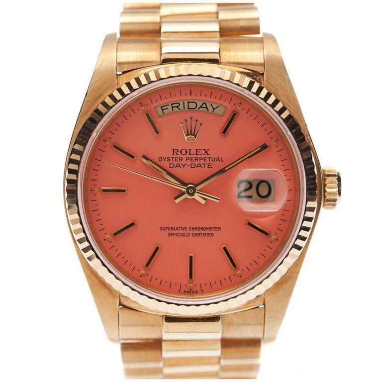 on bklyncontessa    via fourtane    rolex original pink stella dial gold  watch    circa 1980s 37884399fc