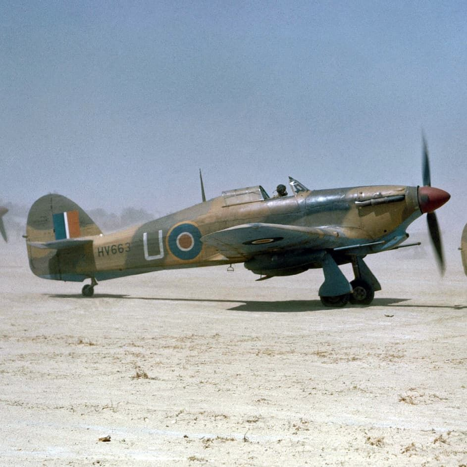 Hawker Hurricane Mark IIDs of No 6 Squadron, Royal Air Force