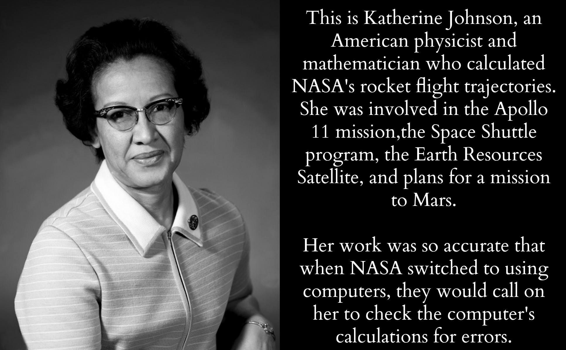 Katherine Johnson American Physicist And Mathematician