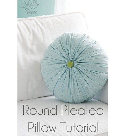 How gorgeous is this pleated and tufted round throw pillow! Melissa from Blank Slate Patterns and Melly Sews made it, and she shares a tutorial showing how you can make one, too. It's a bea…