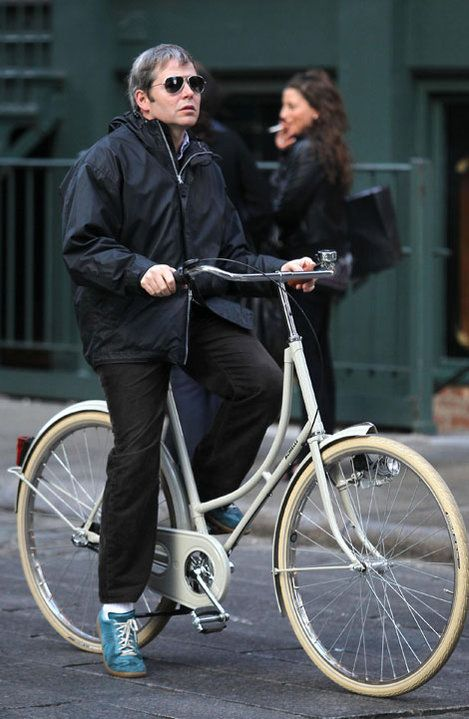 Matthew Broderick On A Dutch Bike In The Village In Nyc Where He