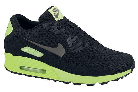 separation shoes d8b3b eb182 nike air max 90 em black dark grey flash lime 2 Nike Air Max 90 EM Black  Dark Grey Flash Lime