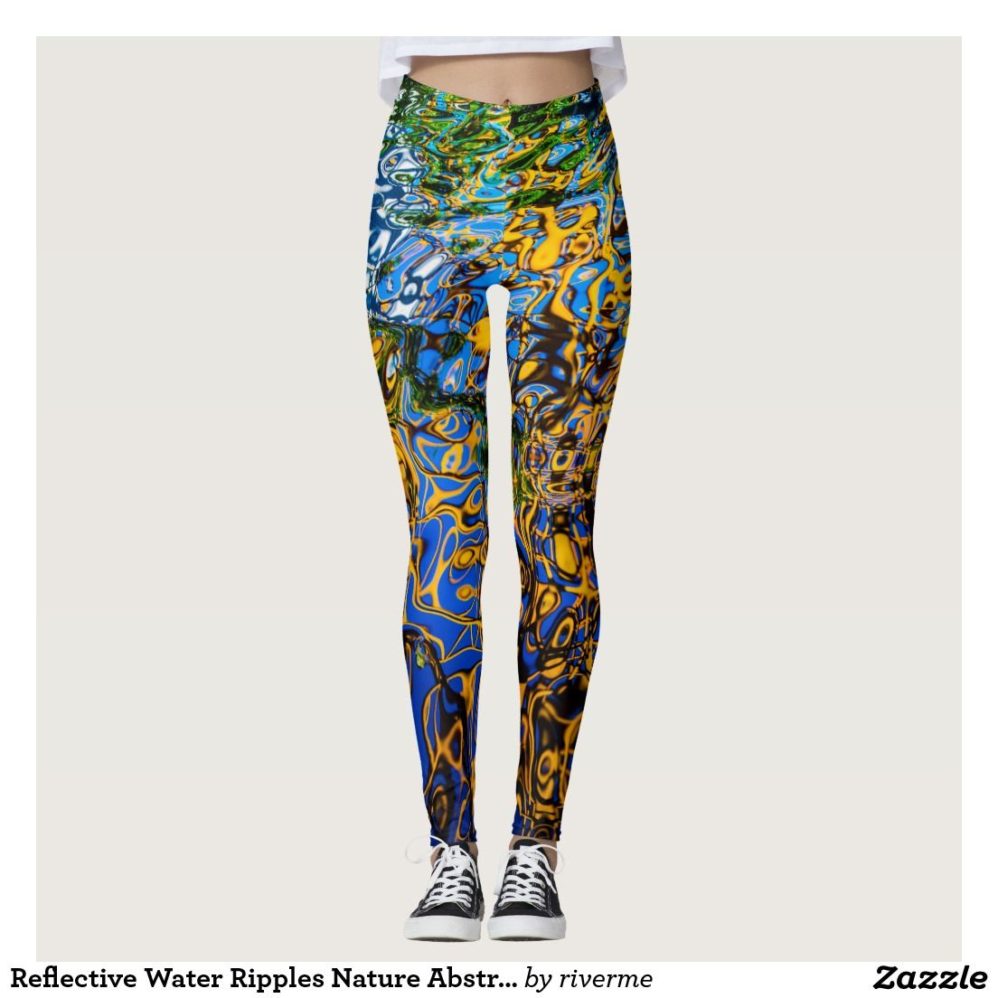 3a1e454a246 Reflective Water Ripples Nature Abstract Art Leggings