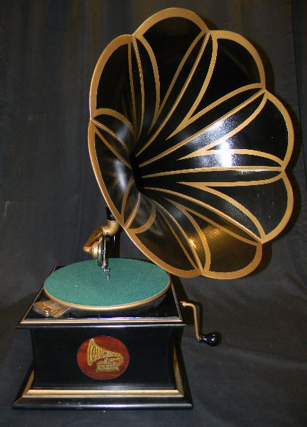 Vintage Phonograph Horn Gramophone Retro Music-machine Grammophon Gold-version