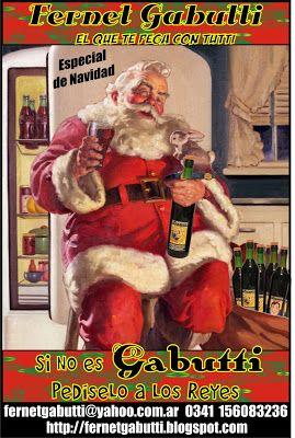 Fernet Gabutti Entre Mingas Trashumantes Y Body Painting Postal Navideña Vintage Santas Vintage Anuncio De Navidad