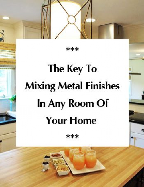 Photo of The key to mixing metal finishes in any room in your home (it's simple). #bathro…