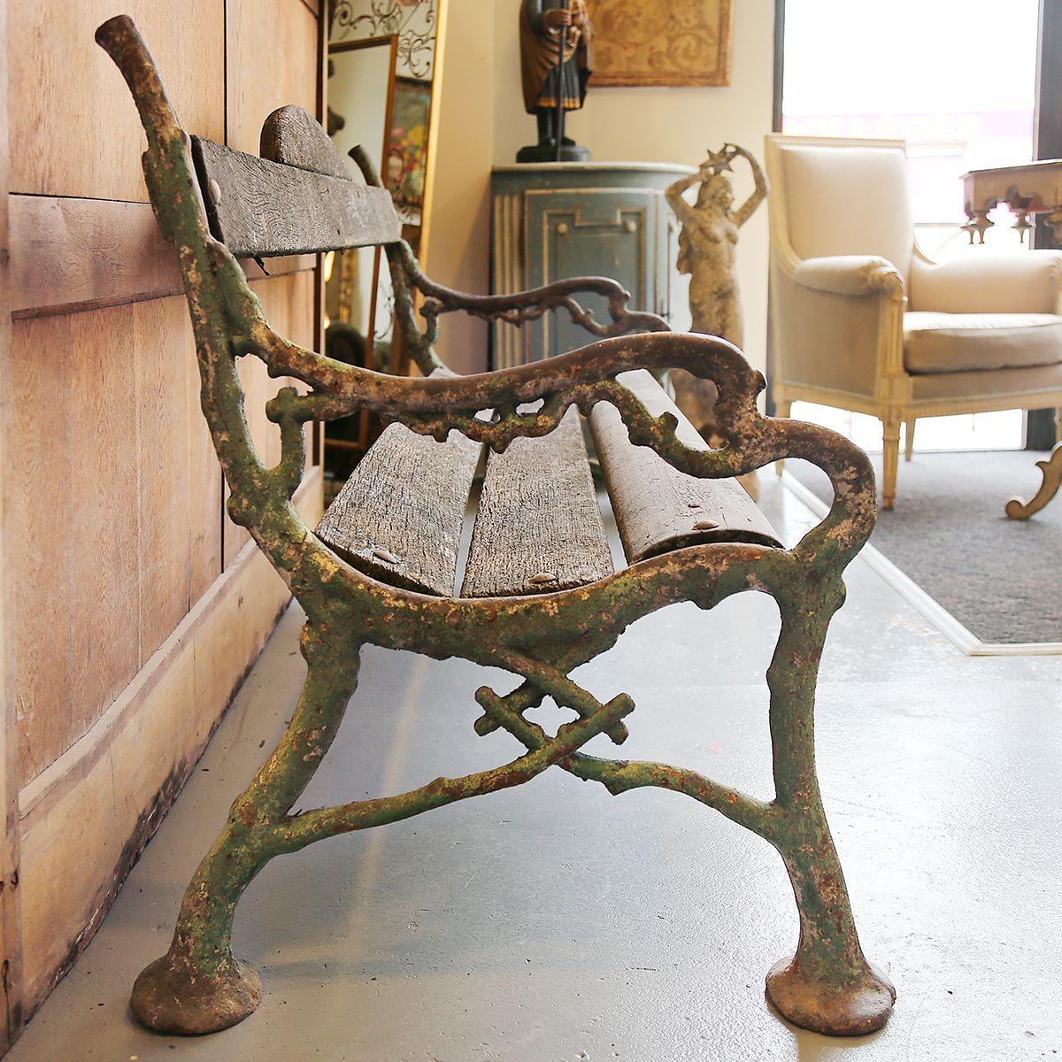 Banc De Parc Xix Fonte Et Bois Denis Masfrand Www Antiquitesenprovence Com Mobilier De Salon Bancs De Parc Bois
