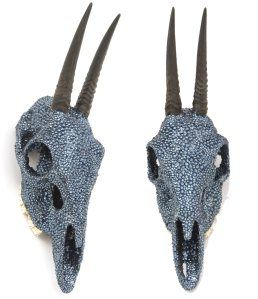 Swarovski Encrusted Animal Skulls By 2 Different Artists; Peter Pracilio & Suzan Fellman | if it's hip, it's here