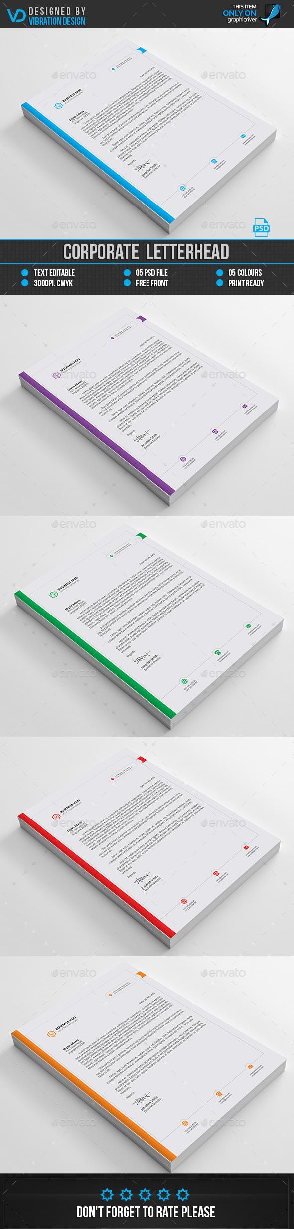 Corporateletterhead  Stationery Print TemplatesDownload Here
