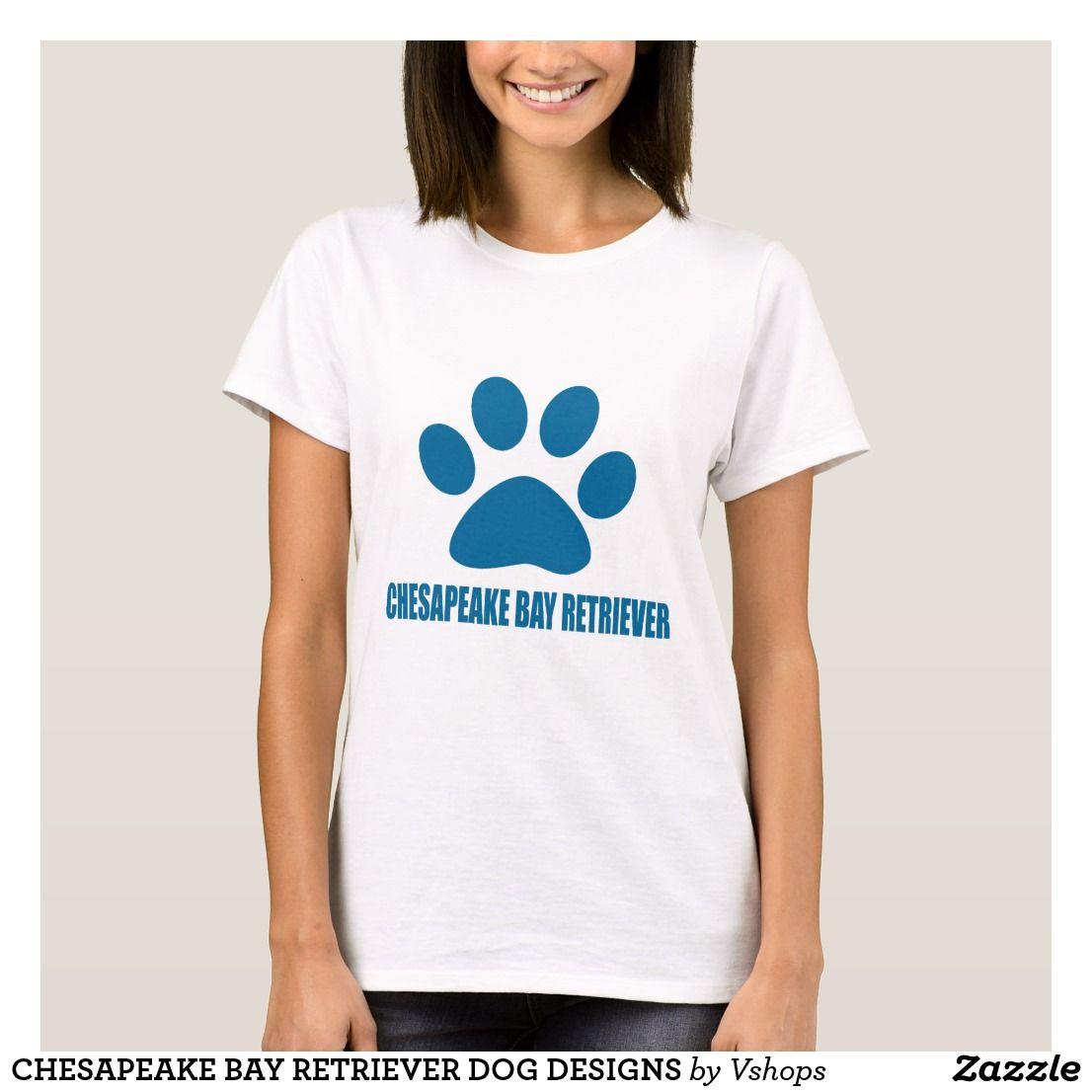 Chesapeake bay retriever dog designs tshirt black