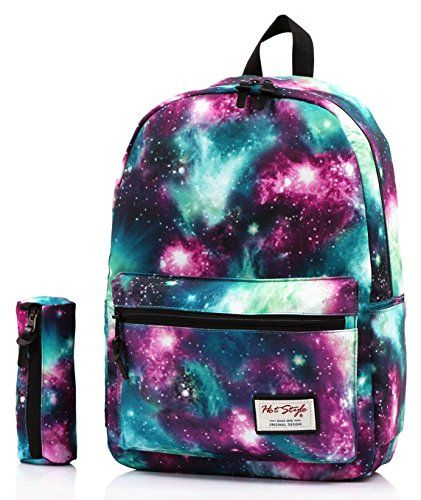 HotStyle Fashion Printed  TrendyMax Galaxy Pattern School Backpack Cute  for Girls with Matching Pencil Bag Bundles 29aae9cfd66a8