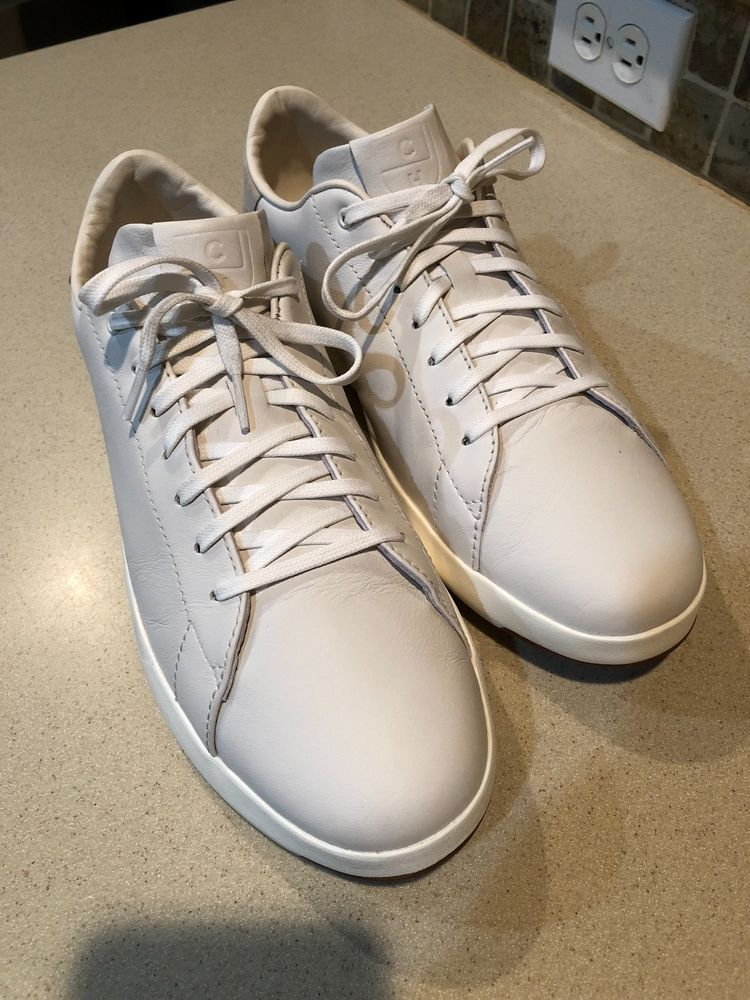100% satisfaction details for professional website Cole Haan GrandPrø White Leather Tennis Sneakers Men's Size ...
