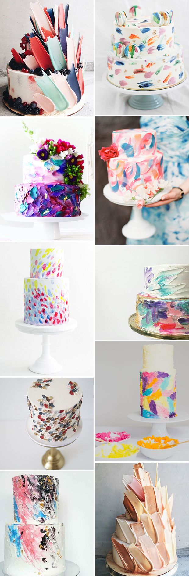 Brushstroke Cakes - 12 Phenomenal Wedding Cake Works of Art ...