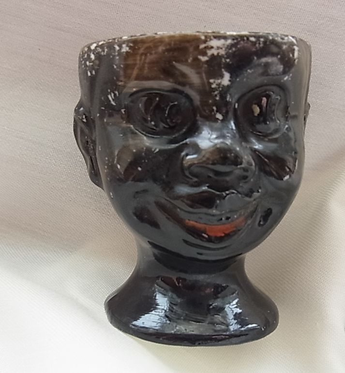 Collectable Blackboy Face and Head Egg Cup