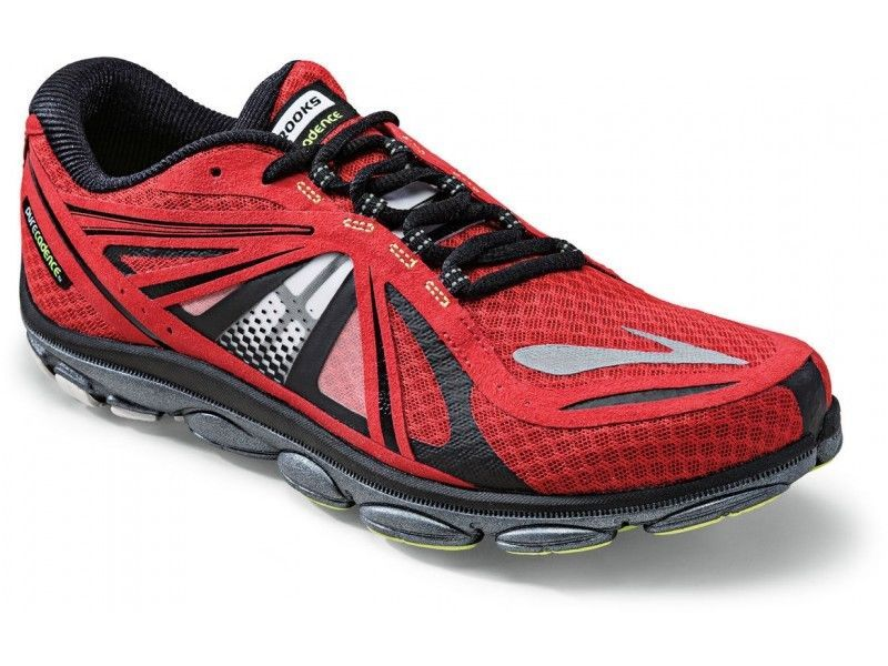 New Brooks Pure Cadence 3 Running Mens Red Black 120 Connect Flow Nib Running Shoes For Men Shoes Mens Brooks