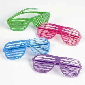 08a1cc142b6 12 Pairs of 80 s Shutter Shade Sunglasses - cute party favors for a  bachelorette party or an 80s themed dance party
