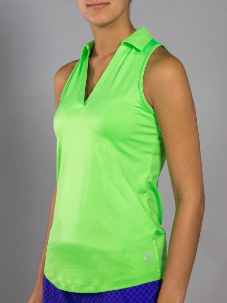 6138bbaf0b3c4b Malbec (Grass) JoFit Ladies   Plus Size Cutaway Tech Sleeveless Golf Tennis  Polo Shirt available at Lori s Golf Shoppe