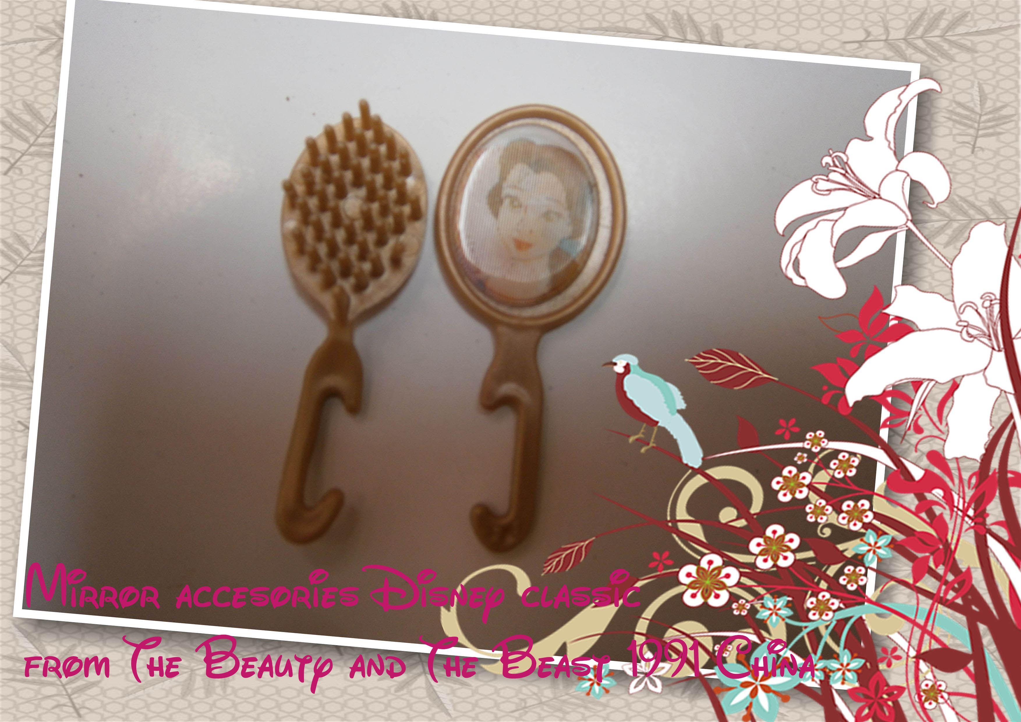 Accesorios cepillo para el pelo y espejo magico beauty and the beast barbie play sets original - Accesorios para el te ...