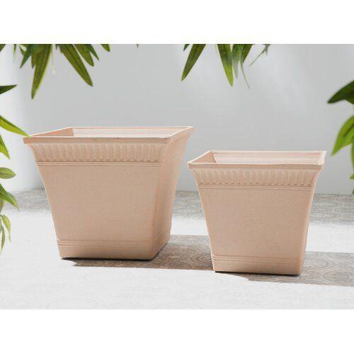 Mong 2 Piece Ceramic Plant Pot Set Sol 72 Outdoor Ceramic Plant Pots Pot Sets Plastic Barrel Planter