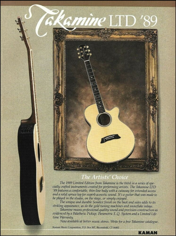 Takamine Limited Edition Ltd 89 Acoustic Guitar Advertisement 1989 Ad Print Takamine In 2020 Guitar Acoustic Guitar Acoustic