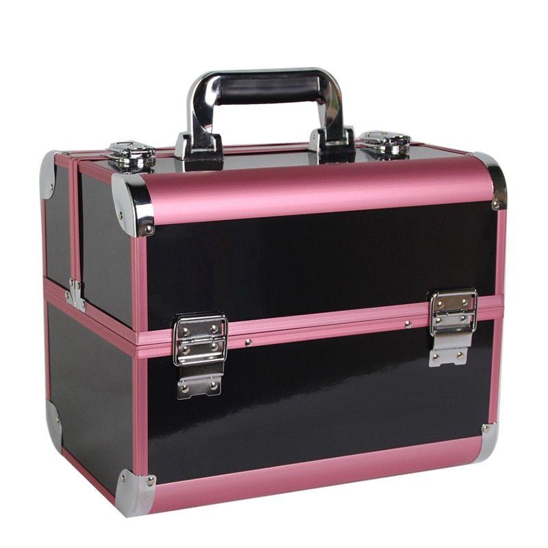 cc5162b54e05 Women Large Capacity Travel Makeup Bags Box Portable Professional ...