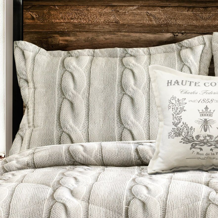 Printed Cable Knit 4 Piece Comforter Set Kohls In 2021 Comforter Sets Bed Comforters Comforter Bedding Sets
