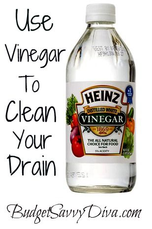 Only have to do this once every 3 months! If you have a tough clog, add a tablespoon or two of baking soda first, then pour the vinegar…let it sit for 15 -30 minutes and then flush with hot water, amazing! Side benefit to this method: If any baking soda remains, it makes for an awesome cleaning agent to just wipe up your sink!  this is like a mini volcano, pour vinegar slowly, it fizzes up a lot!