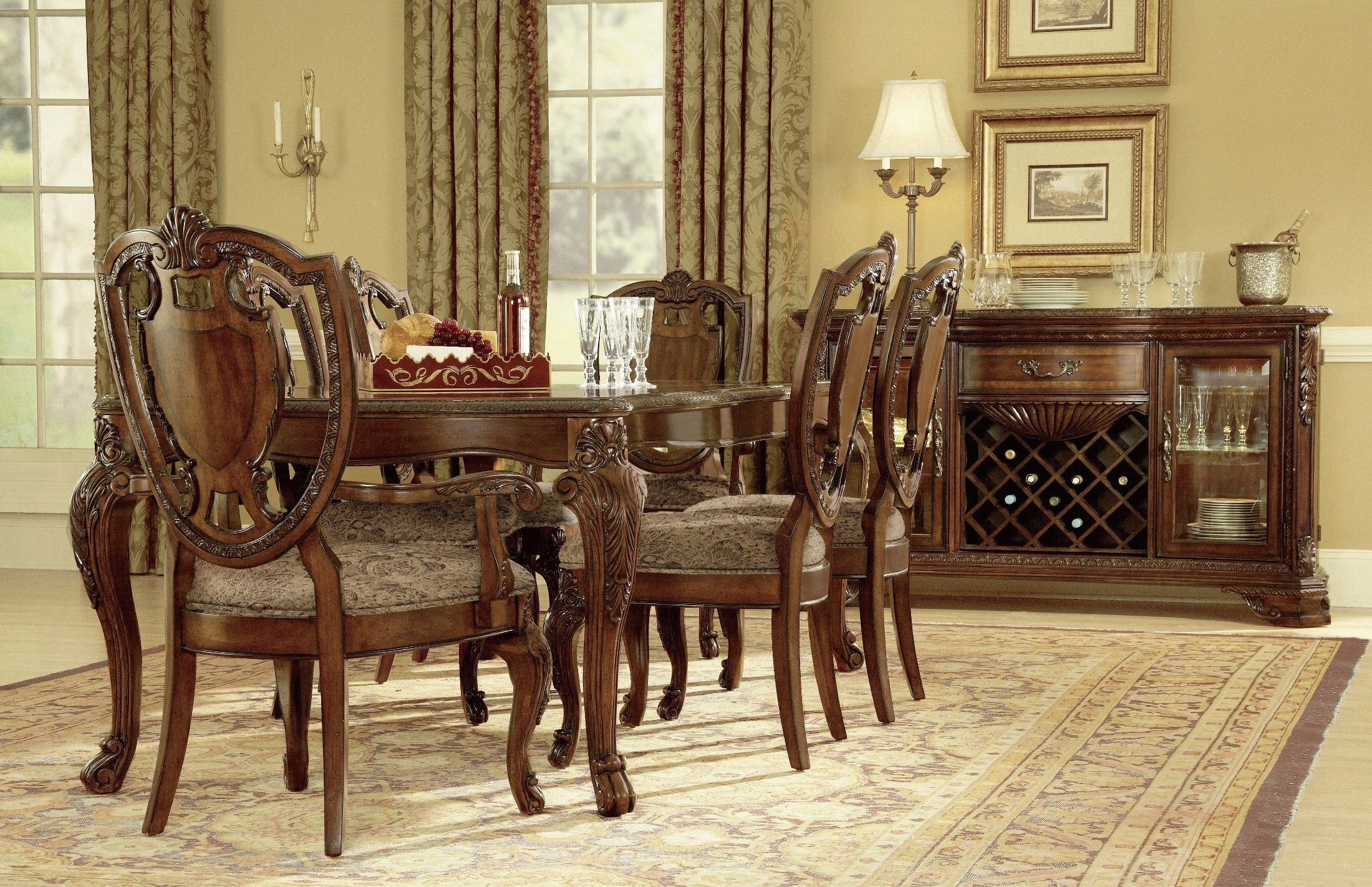 Antique wood dining tables old world leg dining room set product id artroom coleman