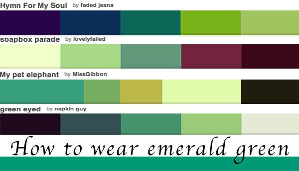 How to wear green which of these color palettes and