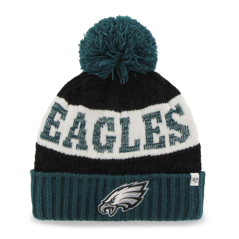 646fc747d52 Philadelphia Eagles  47 Brand Women s Swanson Cuff w Pom Knit Beanie - Midnight  Green